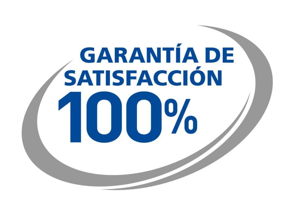 garantia de satisfacción del 100 por 100